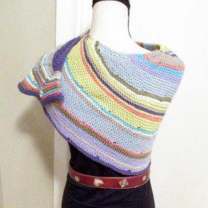 NEW Handknit Soft Non-Wool Wrap Scarf Shawl